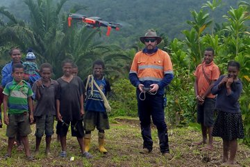 Drone Aerial Mapping Used for Village and Cultural Heritage Surveys